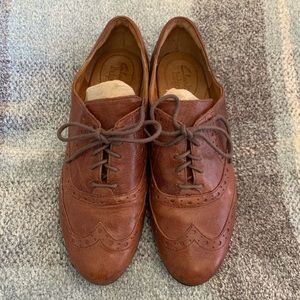 Clark's brown leather loafer